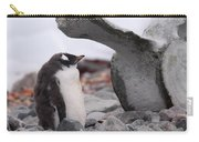 Gentoo Penguin Chick Under Whale Vertebrae Carry-all Pouch