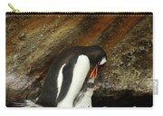 Gentoo Penguin Feeding Chicks Carry-all Pouch