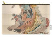 Geological Map Of England And Wales - Historical Relief Map - Antique Map - Historical Atlas Carry-all Pouch