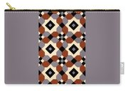 Geometric Textile Design Carry-all Pouch