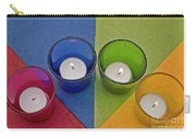 Geometrical Shapes, Colours And Candles Carry-all Pouch