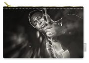 George Benson Black And White Carry-all Pouch