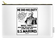 George Dewey - Us Marines Recruiting Carry-all Pouch