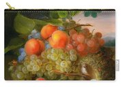 George Forster  Still Life With Fruit And A Birds Nest Carry-all Pouch