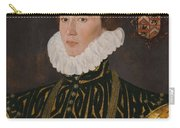 George Gower Portrait Of Thomas Slingsby 1556  1579 1577 Carry-all Pouch