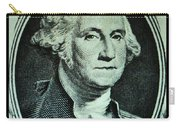 George Washington In Light Green Carry-all Pouch