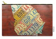 Georgia License Plate Map Carry-all Pouch