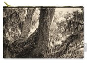Georgia Live Oaks And Spanish Moss In Sepia Carry-all Pouch