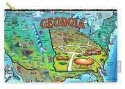 Georgia Usa Cartoon Map Carry-all Pouch