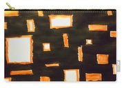 Geosequence In Black And Copper Carry-all Pouch