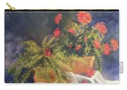 Geranium And Fern Still Life Carry-all Pouch