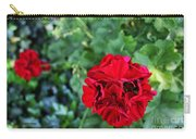 Geranium Flower - Red Carry-all Pouch