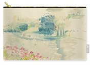 Geraniums By The Lake Carry-all Pouch
