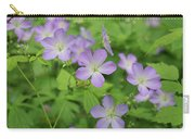 Geraniums Spring Wildflowers Carry-all Pouch