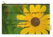 Gerber Daisy Quote Carry-all Pouch