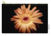 Gerbera On Black Carry-all Pouch