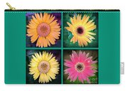 Gerbera Daisy Collage In Square Carry-all Pouch