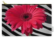 Gerbera Daisy In Striped Vase Carry-all Pouch