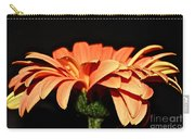 Gerbera Daisy On Black Carry-all Pouch