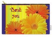 Gerbera Daisy Thank You Card Carry-all Pouch
