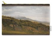 German Landscape With View Towards A Broad Valley , Fritz Petzholdt Carry-all Pouch