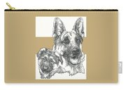 German Shepherd And Pup Carry-all Pouch