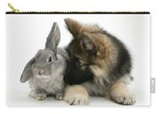 German Shepherd And Rabbit Carry-all Pouch by Mark Taylor