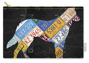 German Shepherd Dog Pet Owner Love Vintage Recycled License Plate Artwork Carry-all Pouch