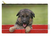 German Shepherd Puppy In A Wagon Carry-all Pouch