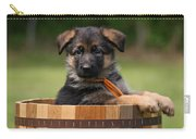 German Shepherd Puppy In Planter Carry-all Pouch
