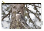 Get My Good Side-grey Jay Carry-all Pouch