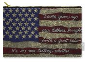 Gettysburg Homage Flag Carry-all Pouch