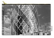 Gherkin And St Andrew's Black And White Carry-all Pouch