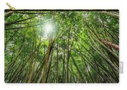 Giant Bamboo In Forest With Sunflare Carry-all Pouch