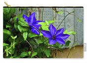 Giant Blue Clematis Carry-all Pouch