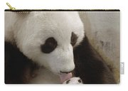 Giant Panda Ailuropoda Melanoleuca Xi Carry-all Pouch by Katherine Feng