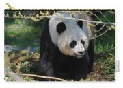 Giant Panda Bear Creeping Under A Tree Branch Carry-all Pouch