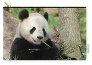 Giant Panda Bear Lounging On Against Tree Trunk Carry-all Pouch