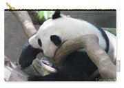 Giant Panda Bear Resting On A Fallen Tree Carry-all Pouch