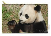 Giant Panda Feeding Himself Shoots Of Bamboo  Carry-all Pouch