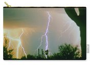 Giant Saguaro Cactus Lightning Storm Carry-all Pouch