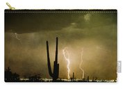 Giant Saguaro Southwest Lightning  Peace Out  Carry-all Pouch