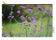 Giant Swallowtail Butterfly In Purple Field Carry-all Pouch