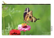 Giant Swallowtail Butterfly On Pink Zinnia Carry-all Pouch