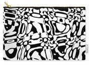 Gibberish Black And White Abstract Carry-all Pouch