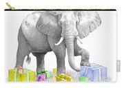 Gift Wrapping Elephant Carry-all Pouch