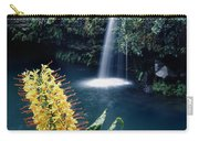 100638-ginger Lily And Hawaiian Waterfall  Carry-all Pouch