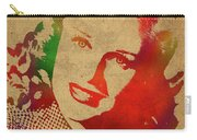 Ginger Rogers Watercolor Portrait Carry-all Pouch