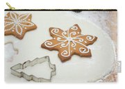 Gingerbread Making - Christmas Preparing With Vintage Kitchen Tools Carry-all Pouch