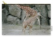 Giraffe And Baby  Carry-all Pouch